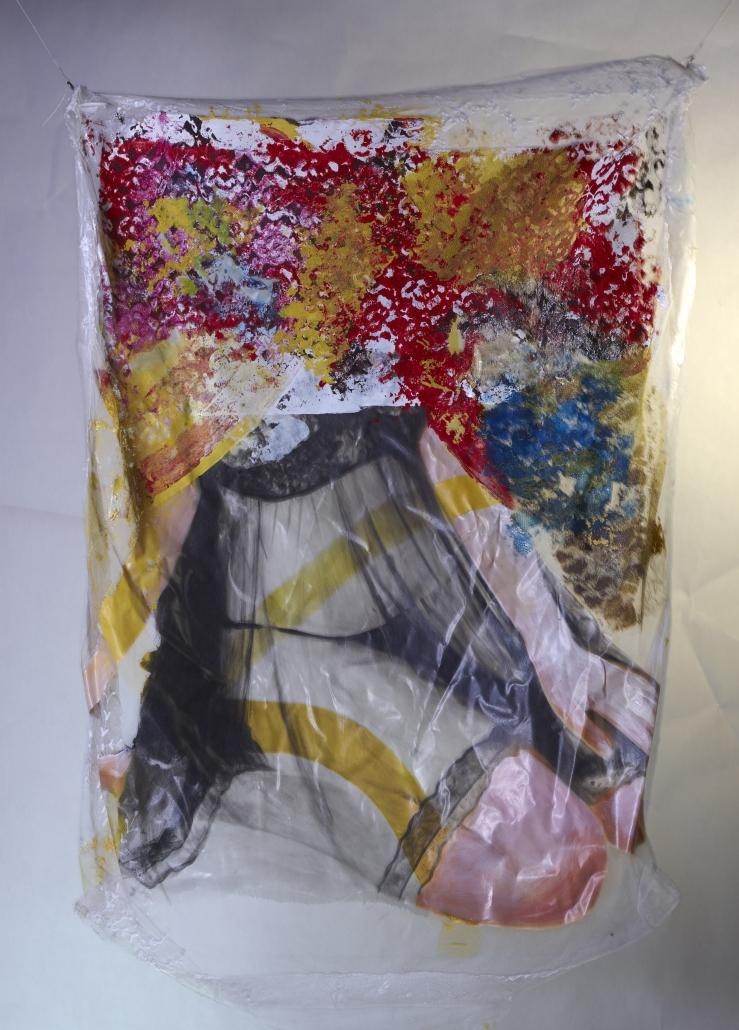 Inaya 2 88x110,5 cm acrylique sur tule