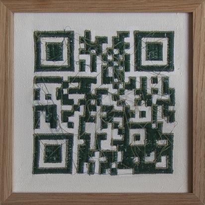 Paysage code | 20 x 20 cm | broderie machine |