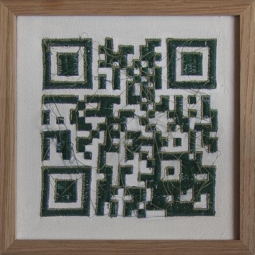 Paysage code   20 x 20 cm   broderie machine  