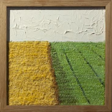 Paysage colza |20 x 20 cm | acrylique broderie machine |