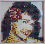image#6 pins sur plexiglas 50x50 cm 2015