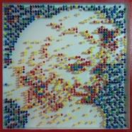 image#5 pins sur plexiglas 50x50 cm 2013